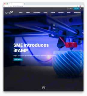 SME's New home page highlighting its new iRAMP program.