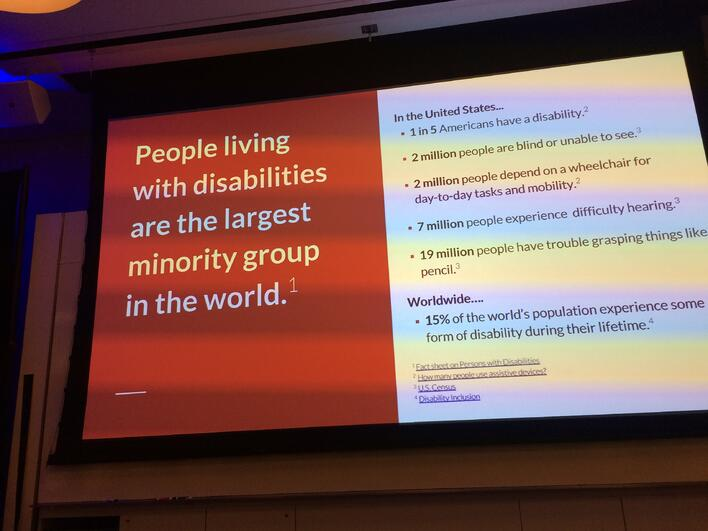 People living with disabilities are the largest minority group in the world.
