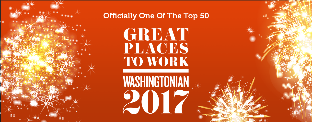 Great Places To Work, Washingtonian 2017